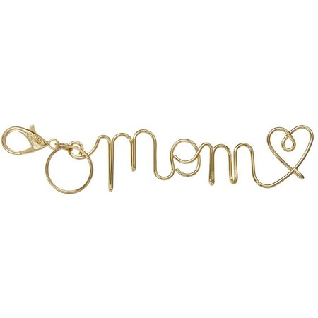 Natural Life Mom Wire Word Keychain