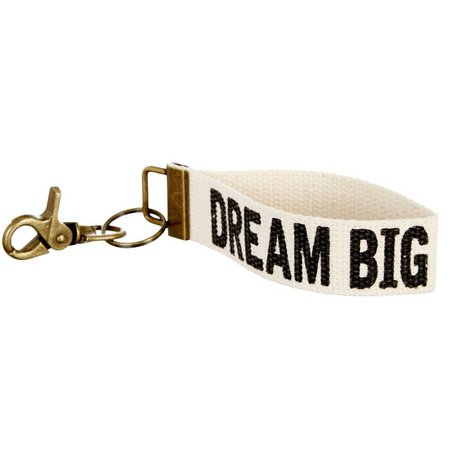 Natural Life Dream Big Canvas Key Fob
