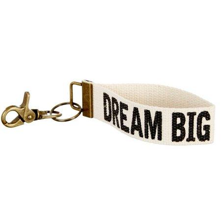 Natural Life Dream Big Canvas Key Fob