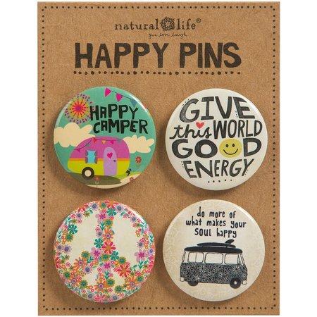Natural Life 4-pc. Happy Camper Pin Set