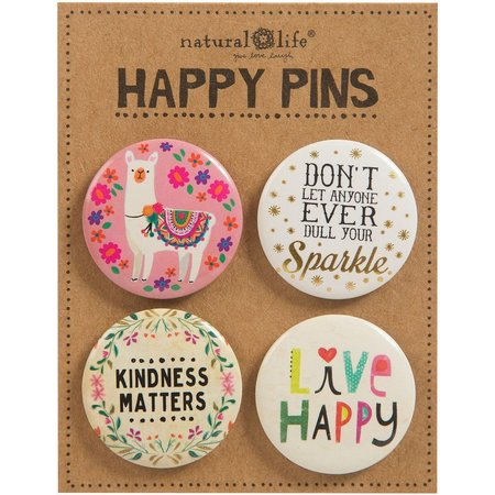 Natural Life 4-pc. Happy Pin Set