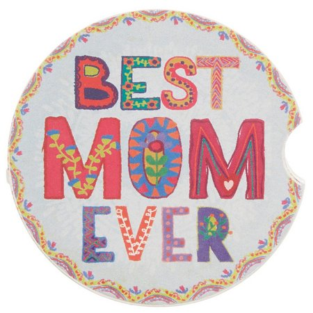 Natural Life Best Mom Ever Car Coaster
