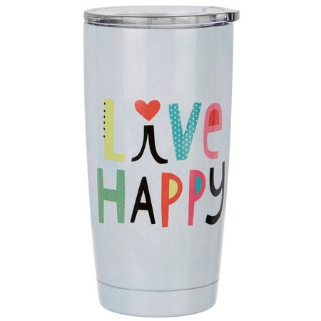 Natural Life Live Happy Tumbler