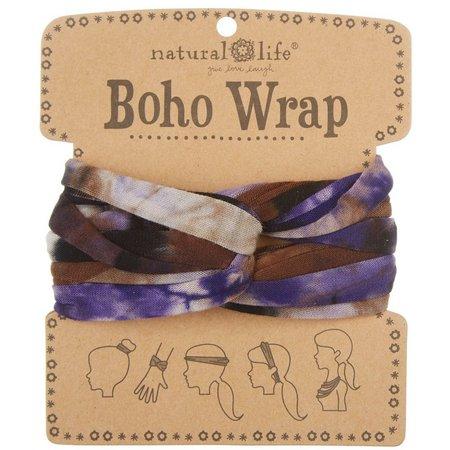 Natural Life Purple Tie Dye Boho Wrap