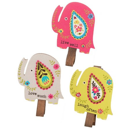 Natural Life Elephant Magnetic Clips