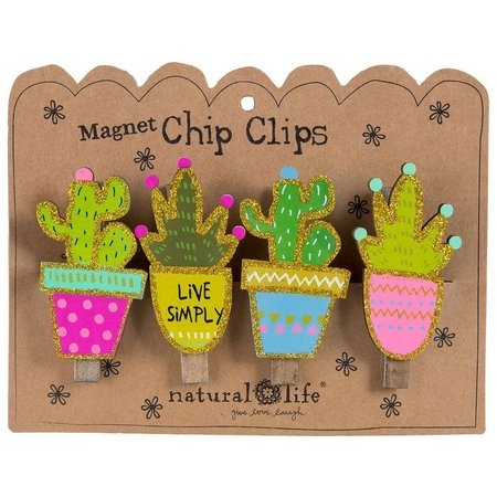 Natural Life 4-pc. Live Simply Magnetic Chip Clip