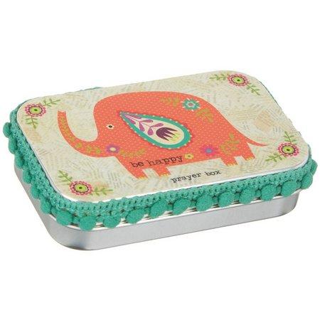 Natural Life Elephant Be Happy Prayer Box
