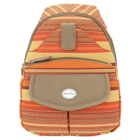 MultiSac Jamie Orange Multi Backpack Handbag