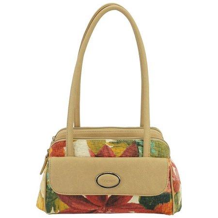 Koltov Dawn Floral Satchel Handbag