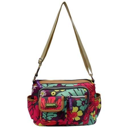 Lily Bloom Libby Tropical Floral Hobo Handbag