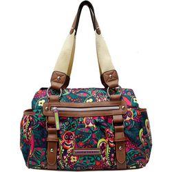 Lily Bloom Landon Owl-iver Twist Satchel Handbag