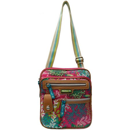 Lily Bloom Gigi Floral Reef Crossbody Handbag