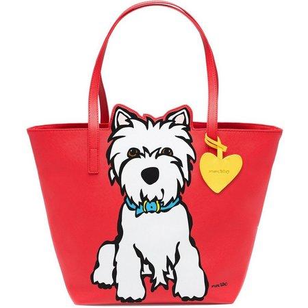 Marc Tetro Westie Red Tote Handbag