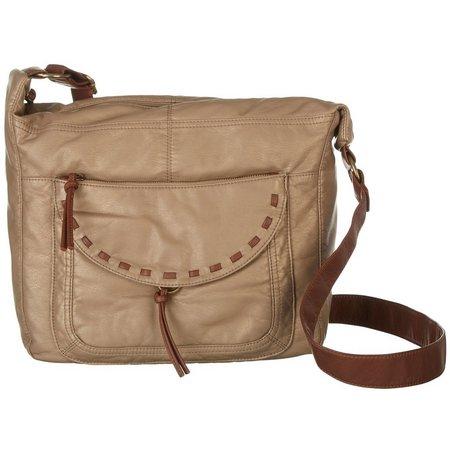 Bueno Pearl Washed Hobo Handbag