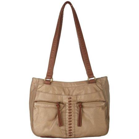 Bueno Pearl Washed Laces Tote Handbag