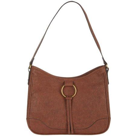 Bueno Ring Perforated Hobo Handbag