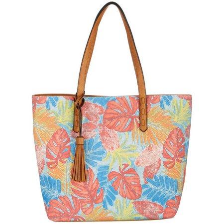 Bueno Canvas Tropical Tote Handbag