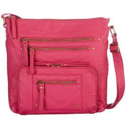 New! Bueno Pearl Wash Multi Pocket Handbag