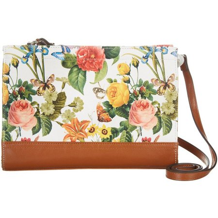 Izaro Garden Flower Butterfly Crossbody Handbag
