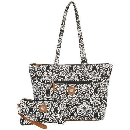 Stone Mountain Batik Print Tote Handbag