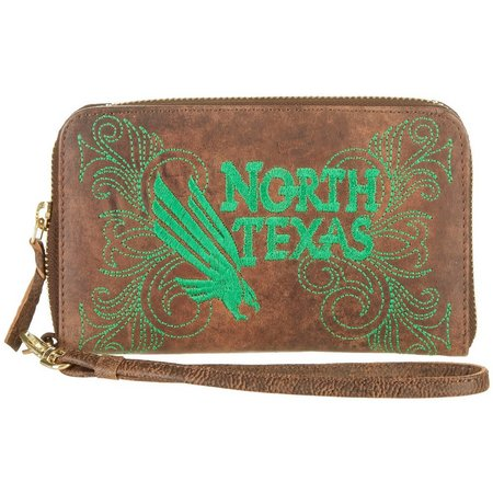 Gameday Boots UNT Mean Green Wristlet
