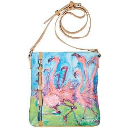 Leoma Lovegrove Flamingo Crossing Handbag