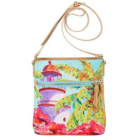 Ellen Negley Lighthouse Lookout Crossbody Handbag