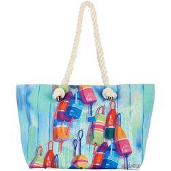 Ellen Negley Oh Buoy Rope Tote Handbag