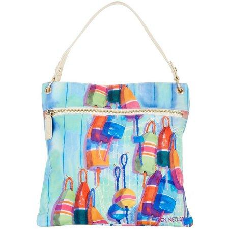 Ellen Negley Oh Buoy Large Crossbody Handbag