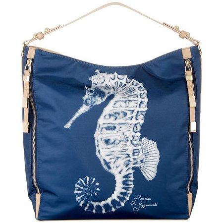 Linnea Szymanski Seahorse Sugar Hobo Handbag