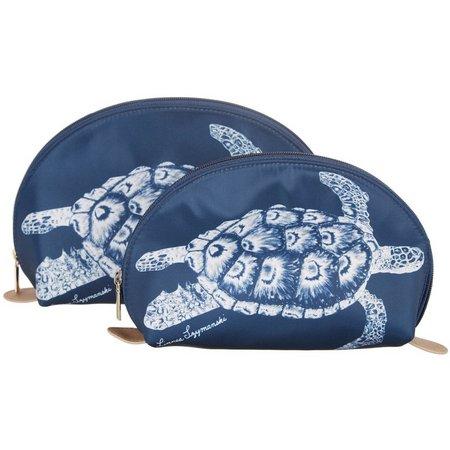 New! Linnea Szymanski Sea Turtle Cosmetic Bag Set
