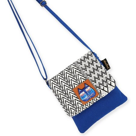 Laurel Burch Indigo Cat Flap Crossbody Handbag