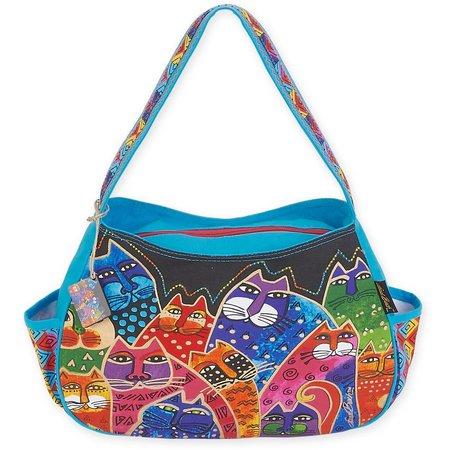 Laurel Burch Whiskered Family Hobo Handbag