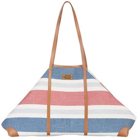 Sun N' Sand Striped Gap Closure Beach Bag