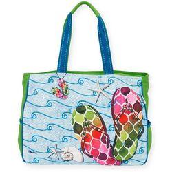 Paul Brent Beach Flip Flops Oversized Tote Handbag