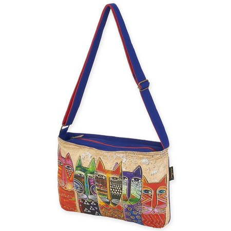 Laurel Burch Long Neck Cats Crossbody Handbag