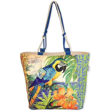 Guy Harvey Parrot Shoulder Beach Bag Tote