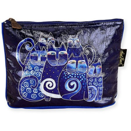 Laurel Burch Indigo Cats Foiled Cosmetic Bag