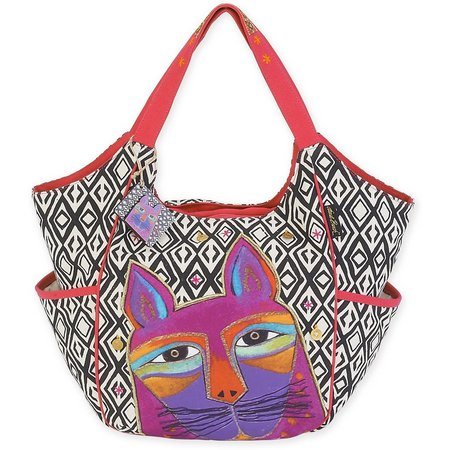 Laurel Burch Whiskered Cat Tote Handbag