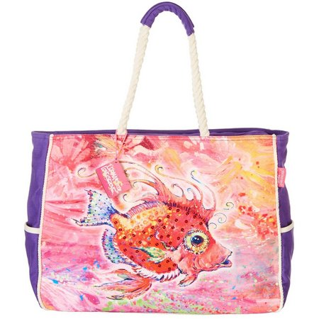 Leoma Lovegrove Fish Called Calda Beach Bag Tote