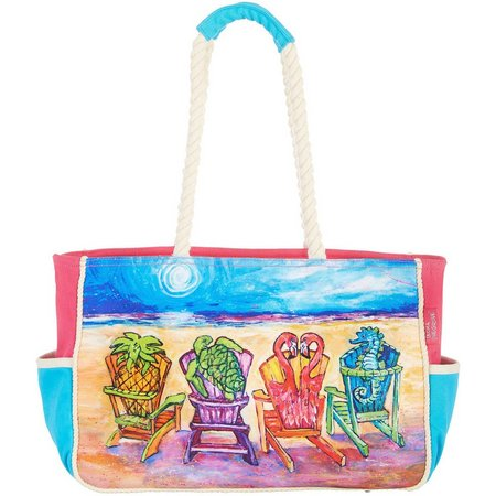 Leoma Lovegrove Front Row Seats Beach Bag Tote