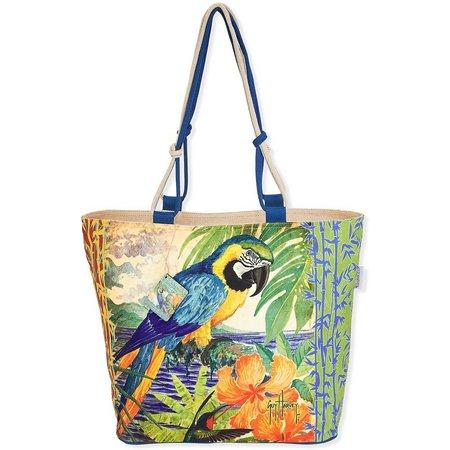 Guy Harvey Parrot Shoulder Beach Bag Tote