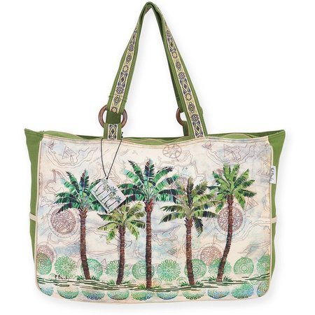 Paul Brent Del Ray Palm Large Beach Bag