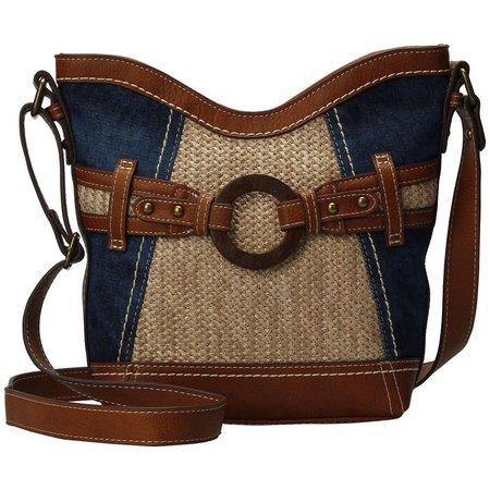 B.O.C. Denim Blue Nayarit Crossbody Handbag