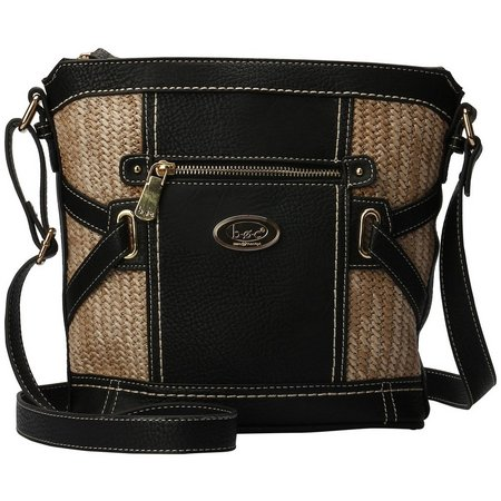 B.O.C. Park Slope Straw Panel Crossbody Handbag