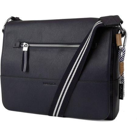 New! Nautica Plain Sailing Messenger Bag