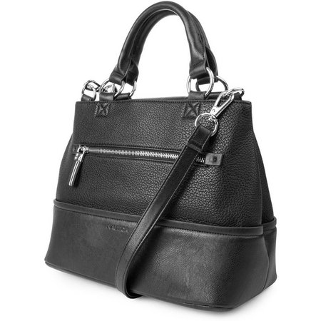 Nautica Sail Black Satchel Handbag