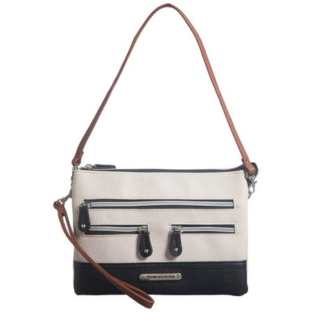 Stone Mountain Leather Pebble East West Superfecta Handbag