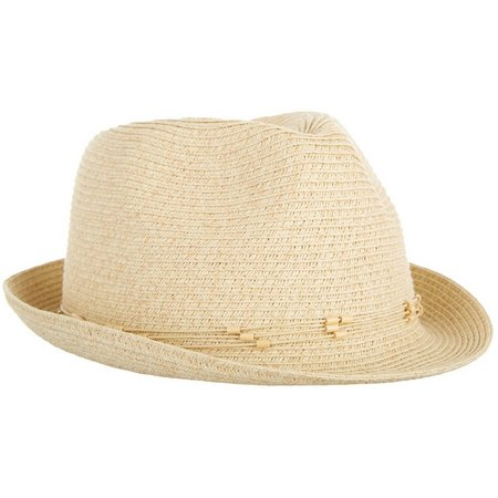 Nine West Womens Packable Classic Fedora Hat