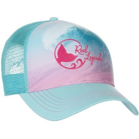 Reel Legends Womens Wave Crest Trucker Hat